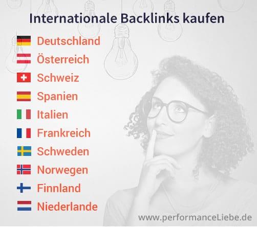 Deutsche Backlinks, Backlinks Österreich, Backlinks Schweiz