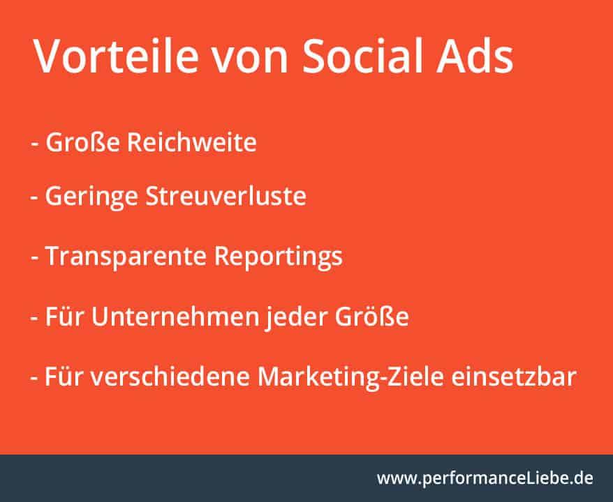 Vorteile von Social Ads